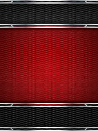 Abstract background, metallic red brochure Stock Vector - 16298122