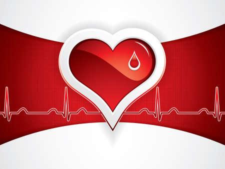 ecg heart: Medical background Vector Illustration