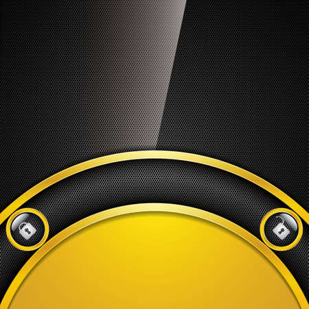 Abstract golden background - user interface unlock vector Vector