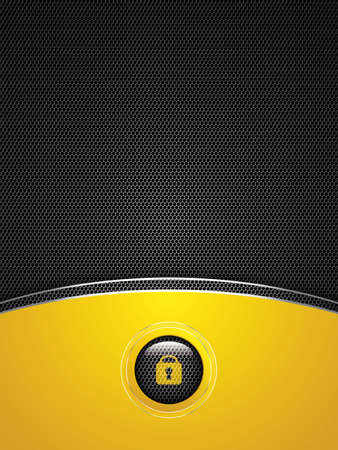 Abstract golden background - user interface unlock  Vector