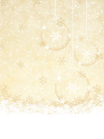 Christmas decoration background with space for text Illustration