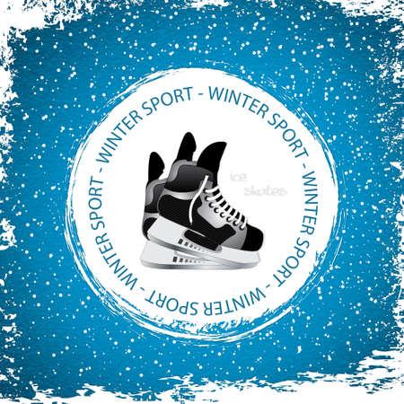 Wintersport Hintergrund Schlittschuhe Illustration