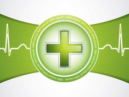 Concept de médicament alternatif - croix médicale