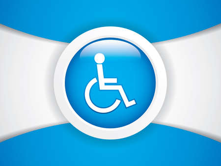 Disabled persons supporting hospital template  Vector