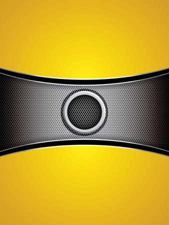 Abstract background, metallic yellow brochure, vector Vector