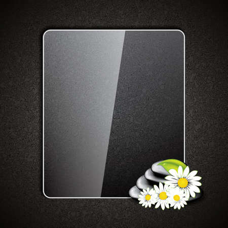 massage therapy: Background with spa stones and white flowers