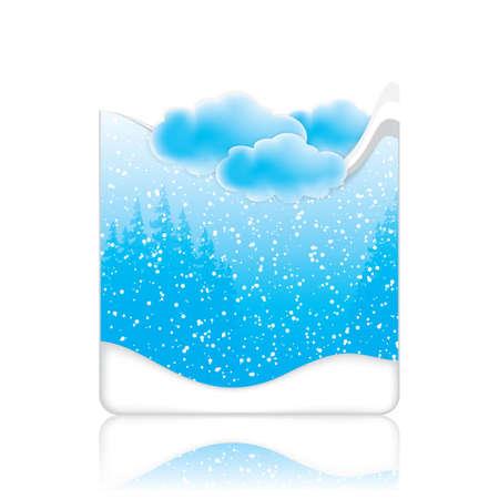 Winter frame in blue tone Seasonal Stock Vector - 17307727
