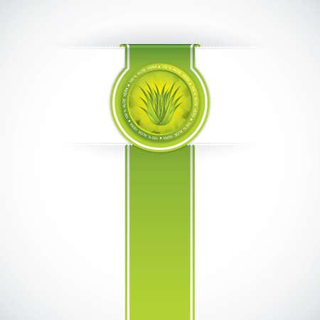 aloe vera background: Aloe Vera concept design