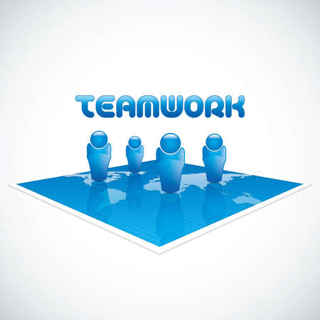 group  join: Team business concept.  Illustration
