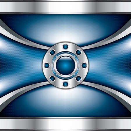 car plate: Abstract background, metallic blue brochure