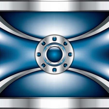 lock  futuristic: Sfondo astratto, blu metallizzato brochure Vettoriali