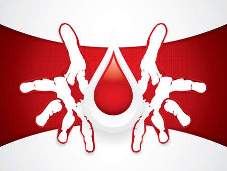 drop of blood: Blood donation vector Medical background Illustration