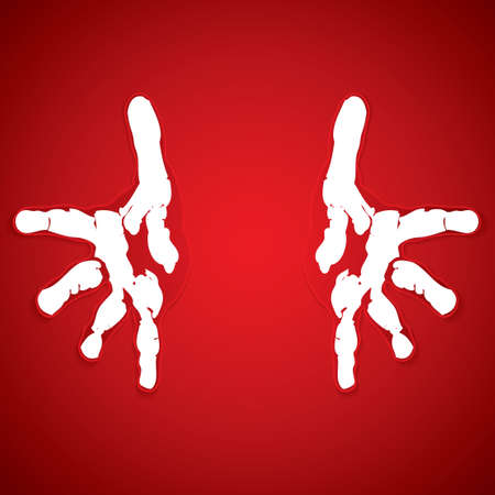 peace symbol: Helping hands vector