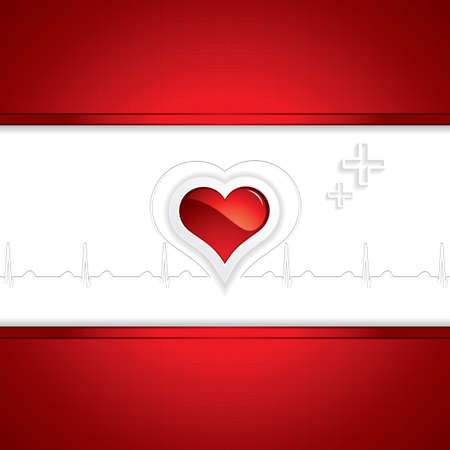 heart monitor: Heart and heartbeat symbol Medical