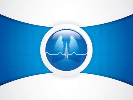 laringe: Los pulmones humanos x-ray fondo