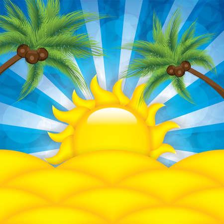 summer background: Summer background  Illustration