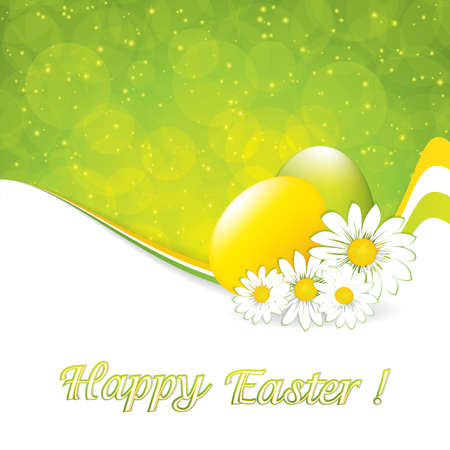 Green Easter Greeting Card Template Royalty Free Cliparts, Vectors