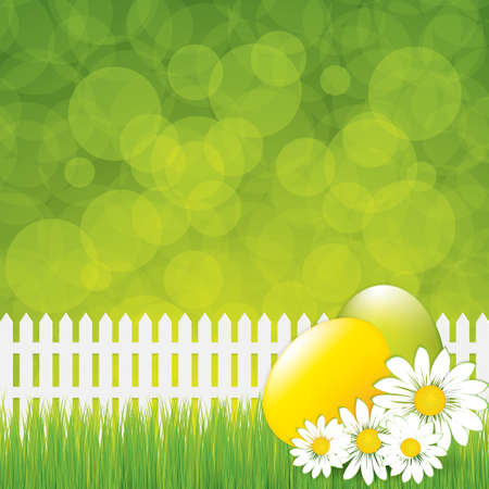 Green Easter greeting card template  Stock Vector - 18345234