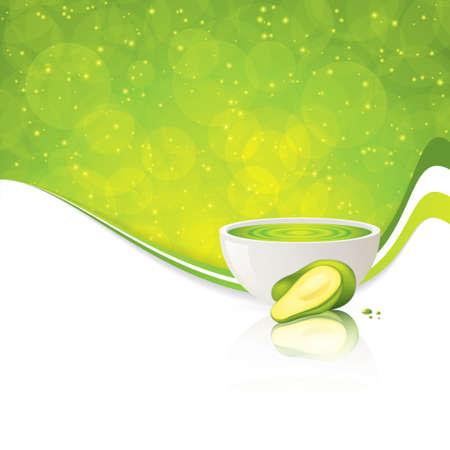 Avocado cream   illustration