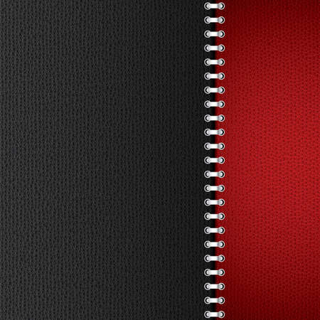 Black and red leather background illustration   Vector