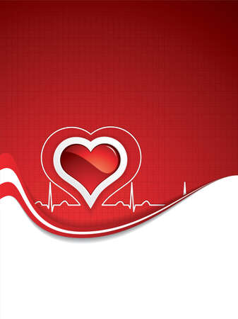 Heart and heartbeat symbol Medical  Vector
