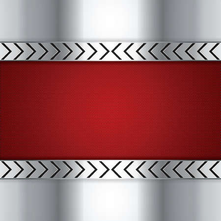 Abstract background, metallic red brochure Stock Vector - 19791044