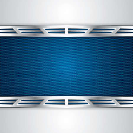 Abstract background, metallic blue brochure Stock Vector - 19791070