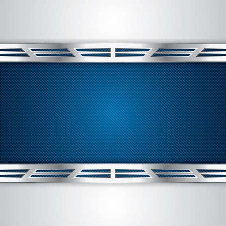 Abstrakter Hintergrund, blau-metallic-Brosch?re Illustration
