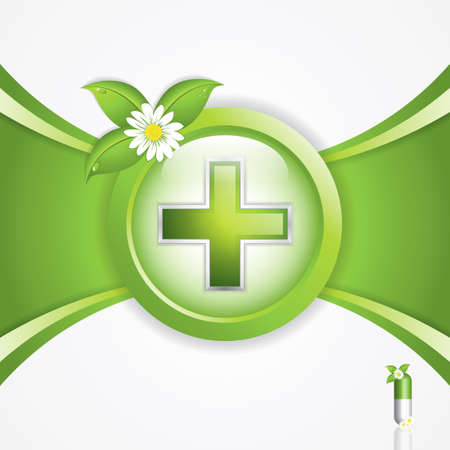Alternative medication concept - medical cross vector Vector