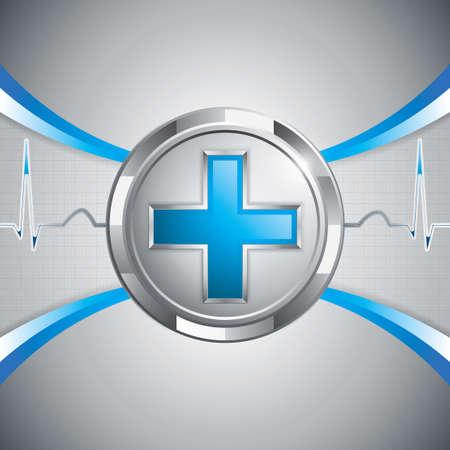 Blaues Kreuz alternative Medikamente Konzept