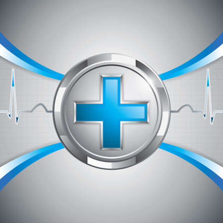 Blue cross alternative medication concept Vector