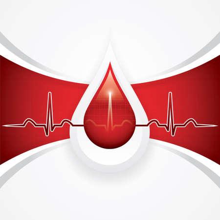 intentie: Bloeddonatie medische achtergrond Stock Illustratie