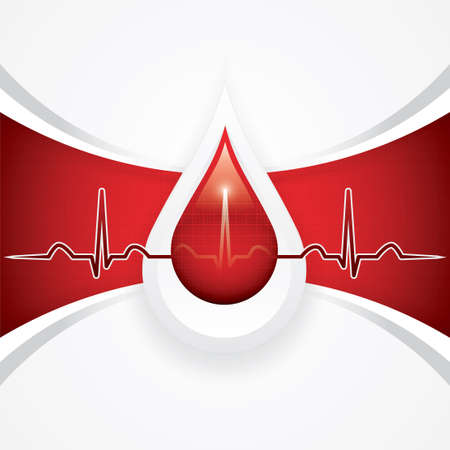 intention: Blood donation Medical background Illustration