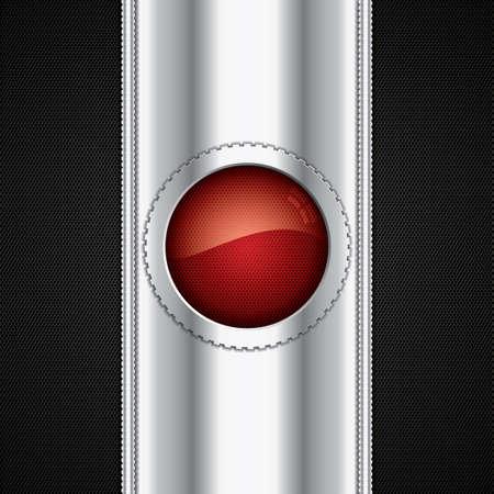 Abstract background, metallic red brochure Stock Vector - 20667339
