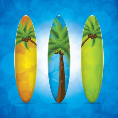 Three surfboard Vector