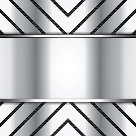 Abstract background, metallic brochure Vector