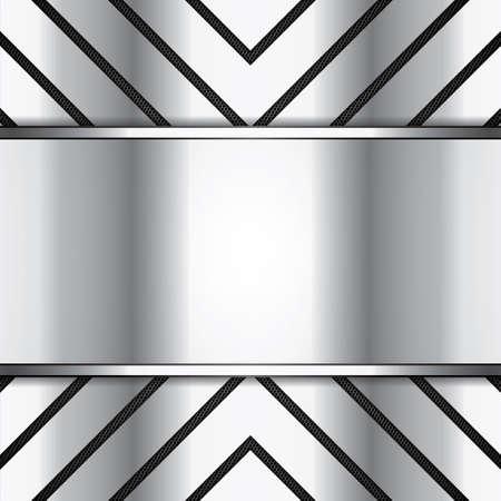 extreme macro: Abstract background, metallic brochure Illustration