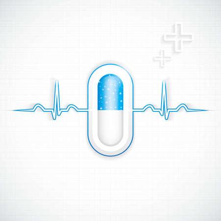 Blue alternative medication concept Stock Vector - 22108214
