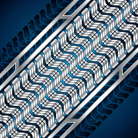 Abstract background, metallic blue brochure Stock Vector - 22108237