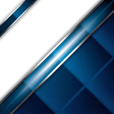 blue metallic background: Abstract background, metallic blue brochure, vector