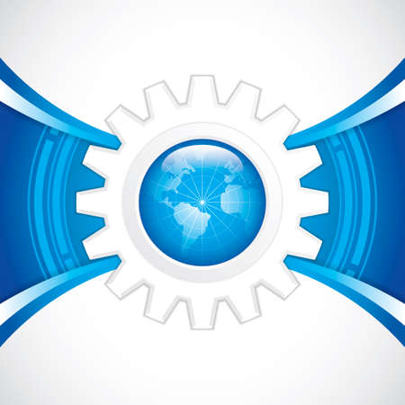 World technology brochure vector Stock Vector - 22617213