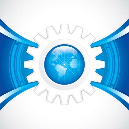World technology brochure vector Stock Vector - 22617213