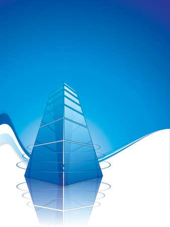 centre d affaires: conception de mod�le de brochure. Un centre commercial moderne