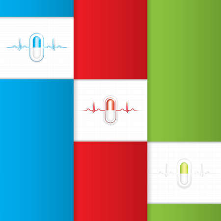 Alternative medication concept - three medical banner  Vector