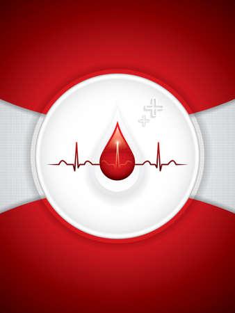 enfermedades del corazon: Vector de donación de sangre.Antecedentes médicos