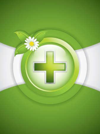 Alternative medication concept - medical cross vector