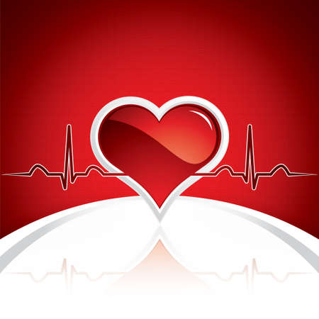 Heart and heartbeat symbol.Medical vector Vector