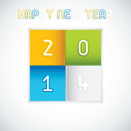 Creative Happy New Year 2014 celebration vector Vector