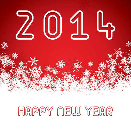 Happy New Year greeting card vector Vector