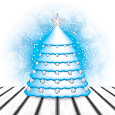 coberto de neve: A neve cobriu o Natal tree.Vector